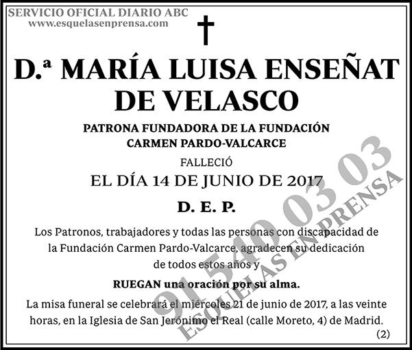 María Luisa Enseñat de Velasco